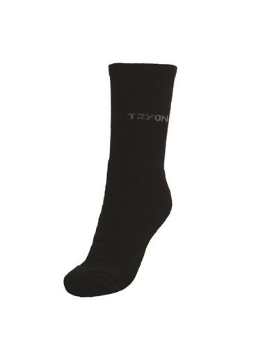 Tryon Tryon Kısa Havlu Çorap Siyah